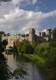 Warwick Castle. Taken from the Mill Gardens royalty free stock photography