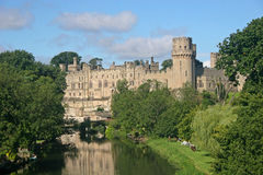 Warwick Castle. And River Avon Royalty Free Stock Photography