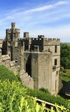Warwick castle. Side view of medieval ultimate Britain's Warwick castle Stock Images