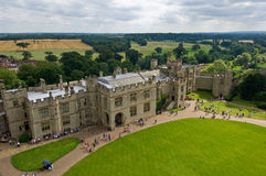 Warwick Castle. View of Warwick Castle in England Royalty Free Stock Photos