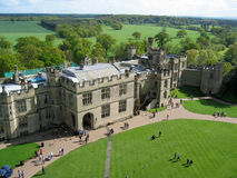 Warwick Castle. Aerial view stock images