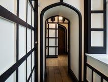 Warwick castle corridor Stock Photos