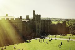 Warwick, Warwick Castle Courtyard, Regno Unito, May5,2018 fotografia stock