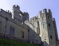 Warwick Castle - porthus i Warwick, Warwickshire, UK fotografering för bildbyråer