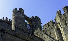 Warwick Castle - porthus i Warwick, Warwickshire, UK royaltyfria bilder