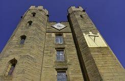 Warwick Castle - porthus i Warwick, Warwickshire, UK arkivbilder