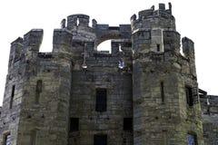 Warwick Castle - porthus-/porttorn arkivbilder