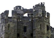 Warwick Castle - porttorn/porthus i Warwick, Warwickshire, UK arkivbilder
