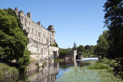 Warwick Castle and the River Avon Royalty Free Stock Image