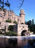 Warwick castle and River Avon. Stock Photography