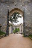 Warwick castle, side entrance Stock Photos