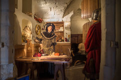 Warwick castle, treasurer's room Royalty Free Stock Images
