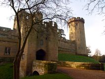 Warwick castle in the UK stock image