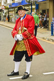 Warwick City Official Town Crier. Image of the Town Crier or Bellman on the streets of Warwick UK during the annual Roundtable Charity Thai cultural festival Royalty Free Stock Images