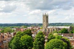 Warwick de stad in stock fotografie
