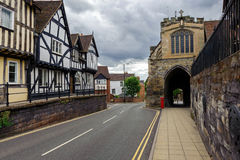 Warwick huvudsaklig gata Arkivbild