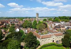 Warwick Landscape. The landscape from the tower of the castle Stock Photo