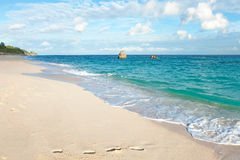 Warwick Long Bay Beach Bermuda fotografie stock
