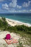 Warwick Long Bay, plages des Bermudes Images stock