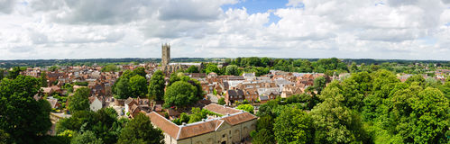 Warwick old town. Panoramic view of the Warwick old town Royalty Free Stock Photo