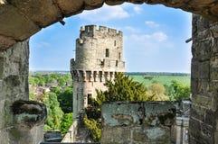 Warwick slott Arkivfoto