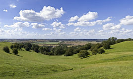 Warwickshire countryside. View over warwickshire countryside from the burton dassett hills country park Stock Photography