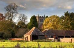 Warwickshire-Dorf Stockfoto