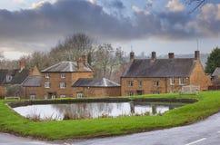 Warwickshire dorp, Engeland Stock Afbeelding