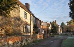 Warwickshire dorp, Engeland Stock Fotografie