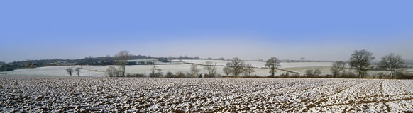 Warwickshire farmland covered Royalty Free Stock Images