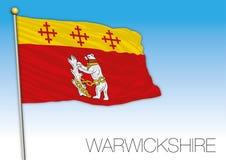 Warwickshire flag, United Kingdom, county of UK Stock Image