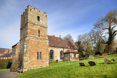 Warwickshire kyrka Royaltyfria Foton