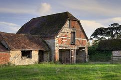 Warwickshire schuur Royalty-vrije Stock Afbeeldingen