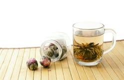 warząca zielona herbata obraz royalty free