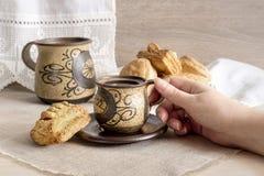 Warząca kawa Obrazy Royalty Free
