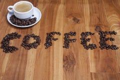 Warzyć kawowe i kawowe fasole Obraz Stock