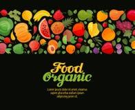 Warzyw i owoc wektoru żywność organiczna Zdjęcie Royalty Free