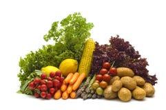 warzywa białe tło Fotografia Stock