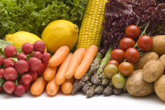 warzywa białe tło Obrazy Stock