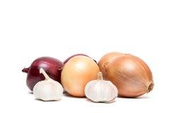 warzywa białe tło Zdjęcia Royalty Free