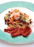 Warzywa i krewetki zakąska Zdjęcia Royalty Free