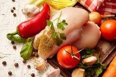 warzywa i mięso, składnik dla polewki Fotografia Stock