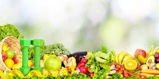 Warzywa i owoc nad abstrakcjonistycznym tłem Obraz Royalty Free
