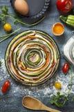 Warzywa i prosciutto kulebiak zdjęcia royalty free