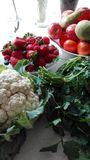 Warzywa i truskawka, Obraz Royalty Free