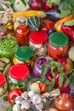 warzywa konserwowane obraz stock
