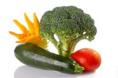 Warzywa na biały tle Zdjęcia Royalty Free