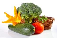 Warzywa na biały tle Fotografia Stock