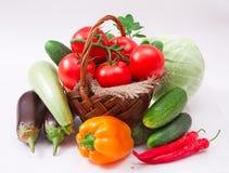 Warzywa na biel obrazy royalty free