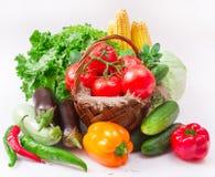 Warzywa na biel Zdjęcie Royalty Free